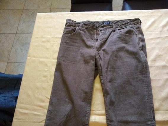 Pantalón Corderoy Talle 44 Color Marrón Usado (quilmes)
