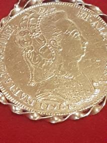 Moeda De Ouro De 1791 C/ Trab. Em Ouro 18 A Redor Raridade