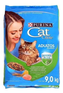 Alimento Para Gato Purina Cat Chow Adulto De 9 Kg