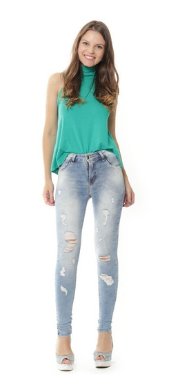 Calça Sawary Jeans Flare Cintura Alta Feminina Original