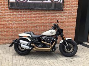 Harley Davidson Fat Bob 107 2018 Branca Impecavel