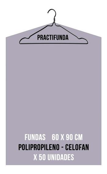 Fundas Celofan Ropa Colgada Percha 60x90cm X 50 Unidades