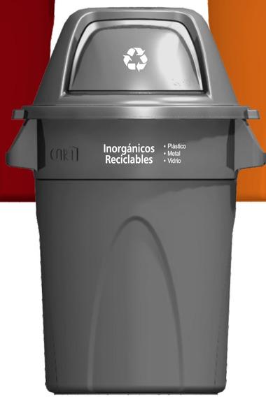 Basurero De 121 Lts, Contenedor Reciclaje Con Serigrafía