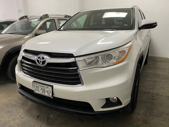 Toyota Highlander 3.5 Xle Piel At Blanca 2015