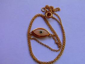 Colar Ouro 18 Kilates 750 Olho Grego