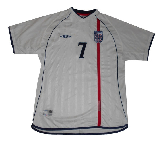 Camiseta De Futbol - Xl - Inglaterra - Beckham - Original
