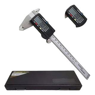 Paquímetro Digital Em Aço + Estojo Original 150 Mm Mtx
