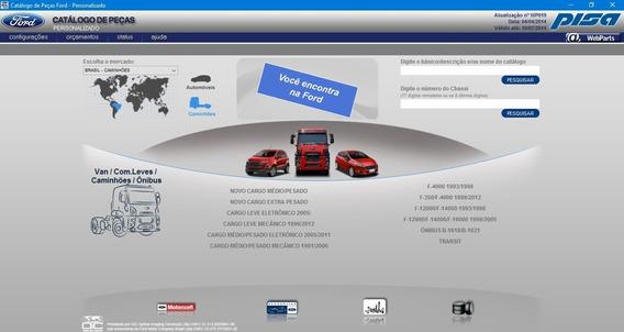 Catalogo Eletronico Ford Webparts Edição 2014 + Lista Preço