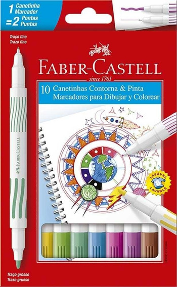 Canetinha 10 Cores Faber Castell