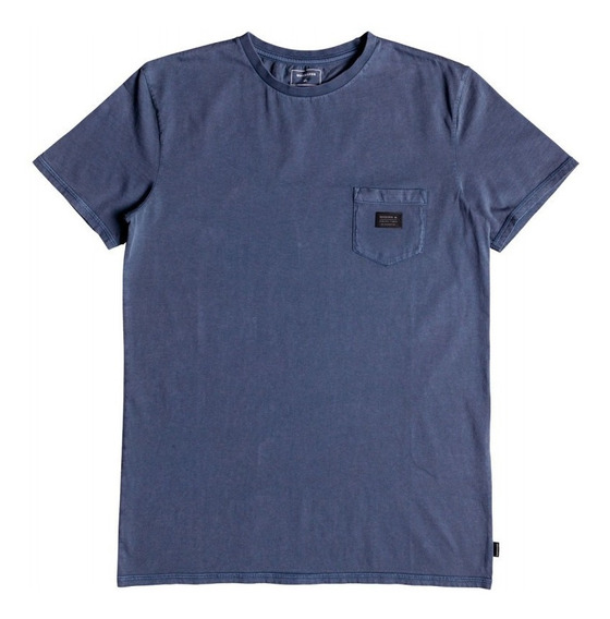 Quiksilver Remera M/c Hombre Highland Oze Azul Marino Fkr