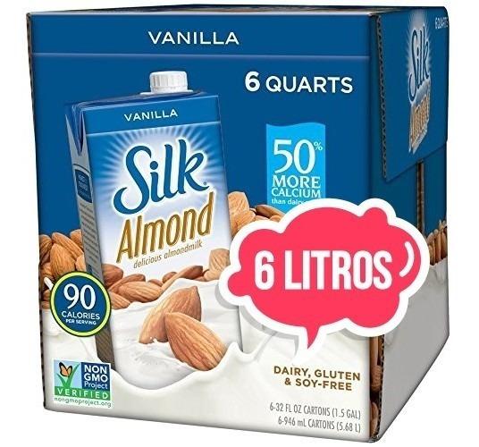 Bebida Almendra Silk Almond Caja 6 Litros