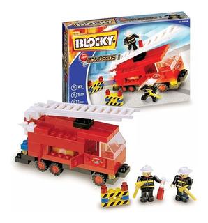 Blocky Bomberos 1con 90 Piezas Original Dimare