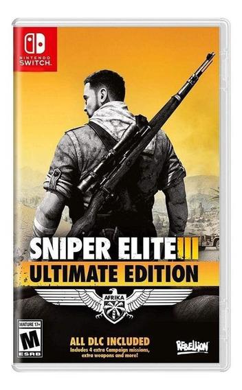 Sniper Elite Iii Ultimate Edition Switch Mídia Física Novo