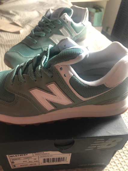 New Balance 574 Verde Agua Talle 36