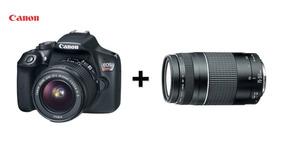Câmera Canon Rebel T6 C/ Lente Ef-s 18-55mm +lente Ef75-300m