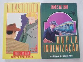 Lote. Dois Livros. James M. Cain. Ficção Policial.
