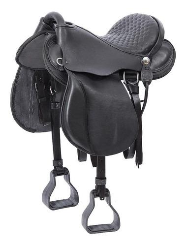 Sela De Cavalo Australiana Preta Assento 15'' Bronc-steel 21