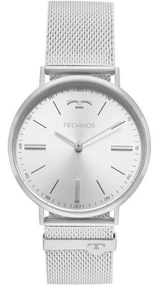 Relógio Technos Feminino Prateado Classic Slim 2025ltl/1k