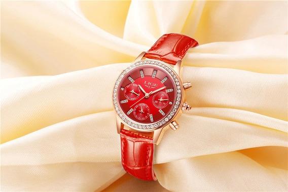 Lindo Relógio De Luxo - Frete Grátis