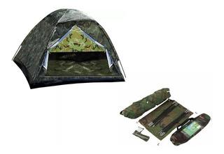 Barraca Tenda Camping Camuflada Militar V.o 6 Pessoas