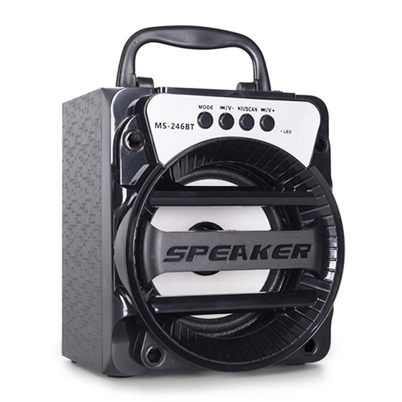 Caixa Som Amplificada Bluetooth Microfone Radio Usb Fm