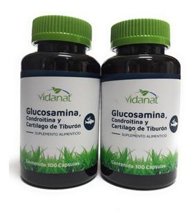 Glucosamina, Condroitina Y Cartilago De Tiburón Vidanat 2pzs