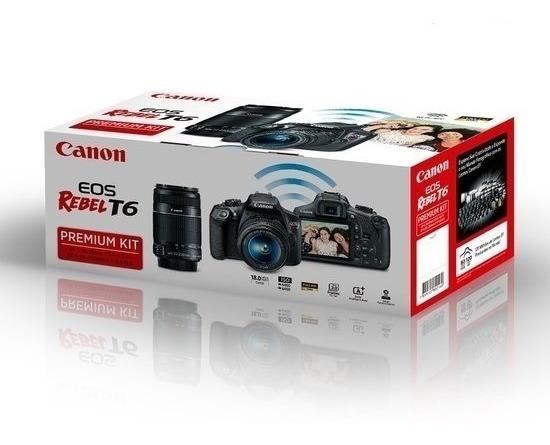 Canon T6 Premium 18-55mm + 55-250mm Sem Juros
