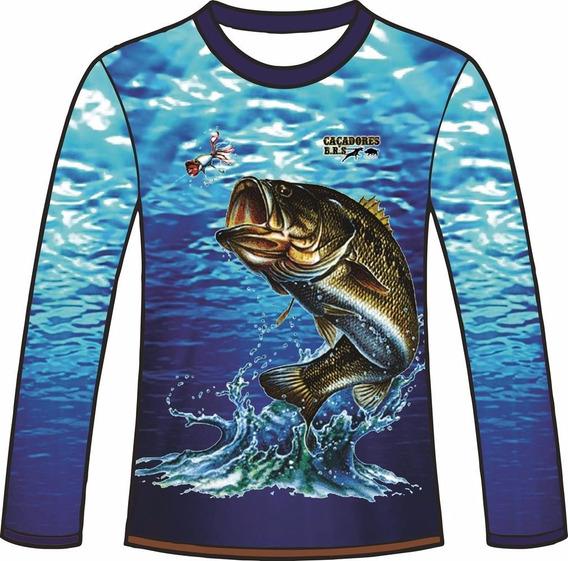 Camiseta Manga Longa Pesca Dry Fit Caçadores Brs 1