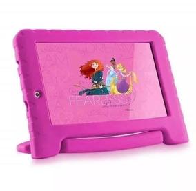 Tablet Princesas Menina Infantil Rosa Case Emborrachado N281