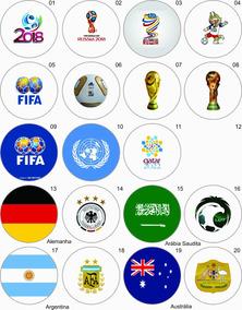 10 Boton Botton 3,5- Copa Mundo 2018 Rússia - Fifa - Futebol