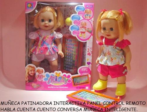 Muñeca Patinador Con Tablet Sonidos Y Luces