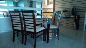 Mesa De Jantar Com 6 Cadeiras Padrão Luxo