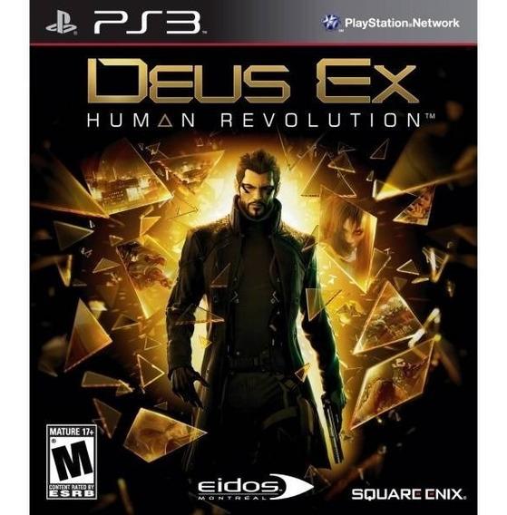 Deus Ex Human Revolution Ps3 Mídia Física Semi Novo