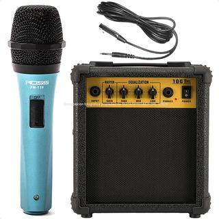 Combo Karaoke Microfono + Cable + Parlante Amplificador 10w