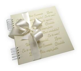Casamento Álbum Personalizado Scrapbook Assinatura Caixa