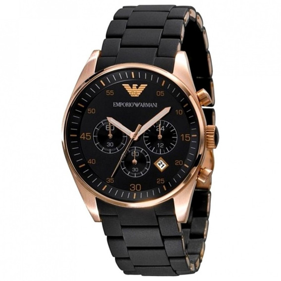 Relógio De Luxo Emporio Armani Ar5905 Dourado Rose E Preto