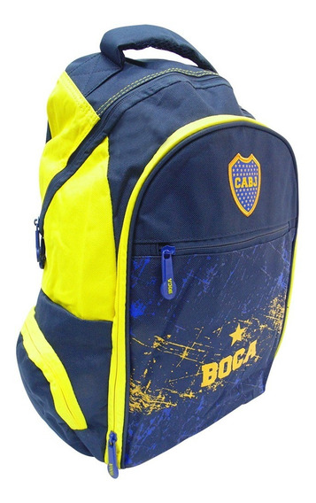Mochila Boca Juniors Cabj Bj36 18 Pulgadas Oficial 25l