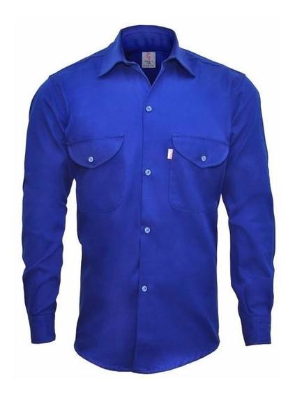Kit Camisa Y Pantalón Trabajo Grafa 70 Azul Francia