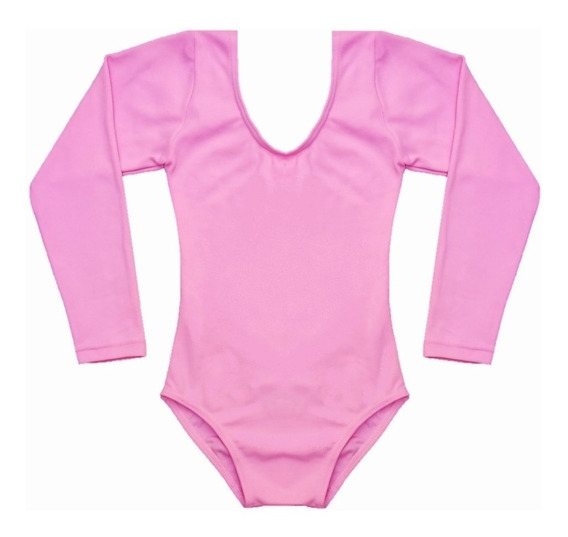 Collant Ballet Balé Manga Longa Cores Infantil Tam 8 10 12