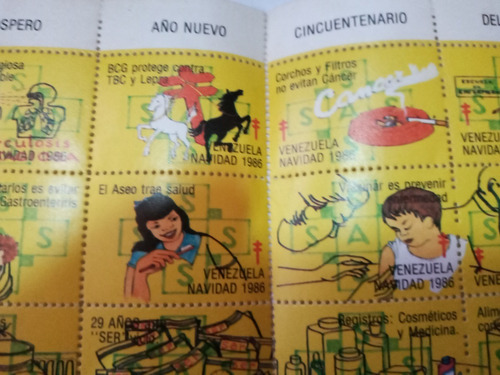 Imagen 1 de 2 de Estampillas Venezuela Navidad 1986
