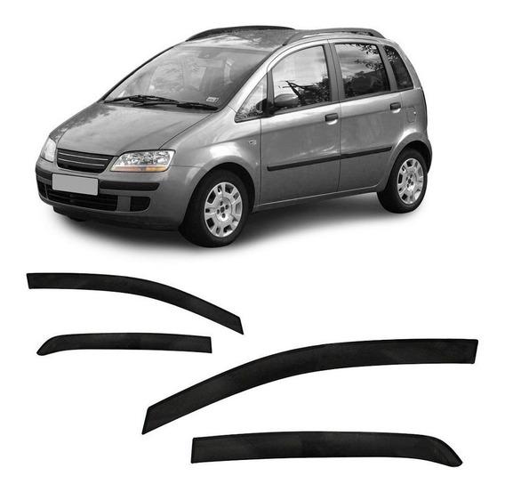 Jogo Calha Fiat Idea 2005 2006 2007 2008 A 2014 4p Slim Fumê