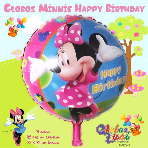 Globos Metalicos Mickey & Minnie Variados