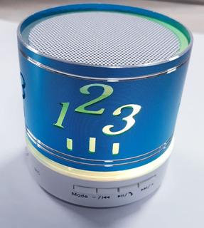 Parlante Bluetooth Excelente Sonido Con Luz Metalico Radio