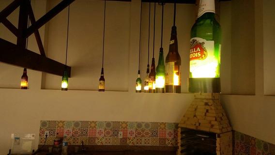 Kit 10 Pendentes De Garrafas De Cervejas Variadas Decorativo