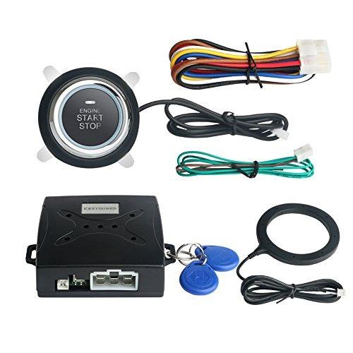 Imagen 1 de 8 de Sistema Alarma Automóvil Easyguard Ec004 Smart Rfid Botón Pa