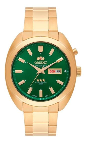 Relógio Orient Masculino Automático 469gp077 E1kx Verde Ofer