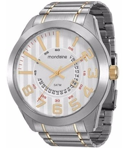 Relógio Mondaine Masculino Prata E Dourado 94828gpmvba2
