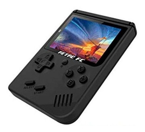 Mini Consola Retro Fc 400 In 1 Tipo Game Boy Clásicos Negra