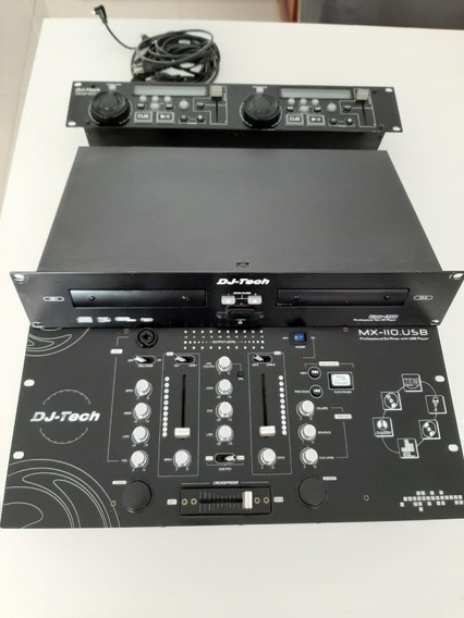 Mixer Para Dj Dj-tech Mx-110.usb + Dual Cd Player Cdx-310