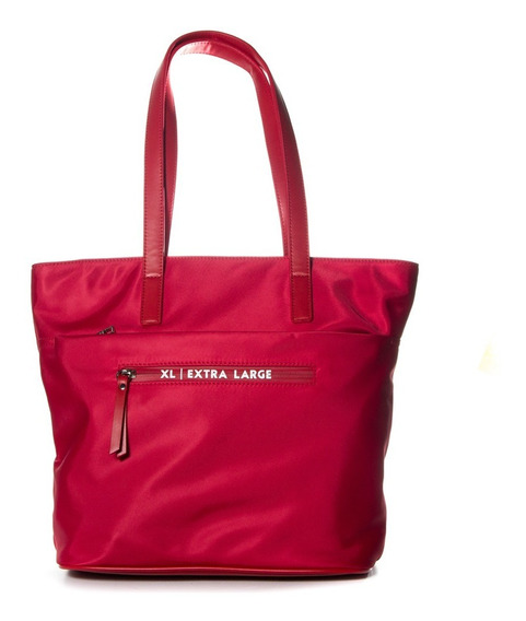 Tote Mujer Xl Extra Large Jazmin Rojo